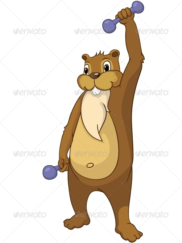 GraphicRiver Cartoon Character Beaver 4356893