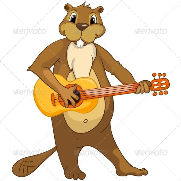 GraphicRiver Cartoon Character Beaver 4356897