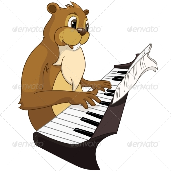 GraphicRiver Cartoon Character Beaver 4356899