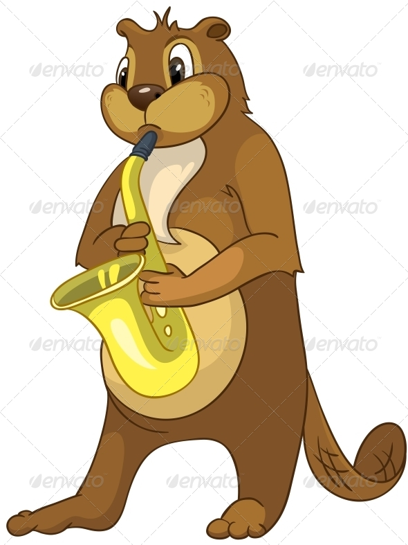 GraphicRiver Cartoon Character Beaver 4356904