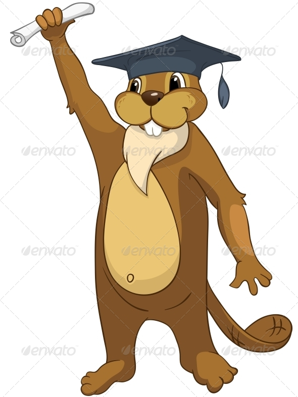 GraphicRiver Cartoon Character Beaver 4356907
