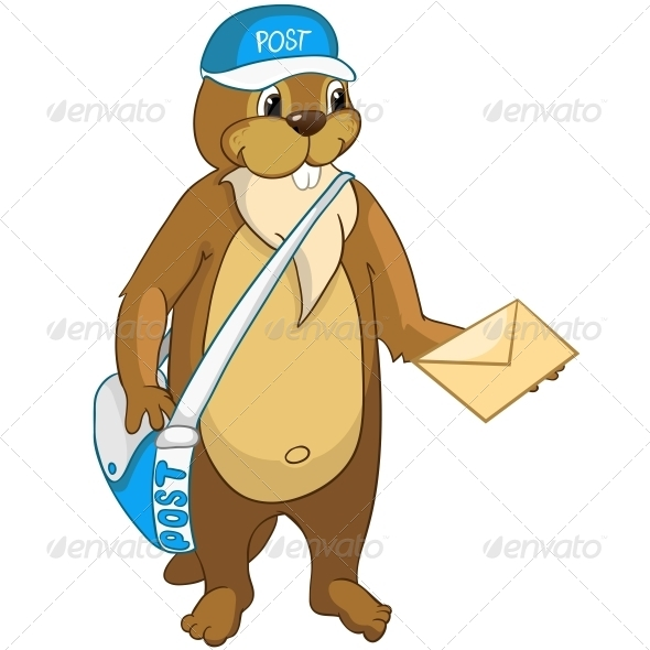 GraphicRiver Cartoon Character Beaver 4356909