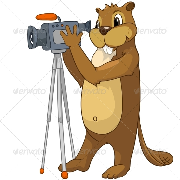 GraphicRiver Cartoon Character Beaver 4356912