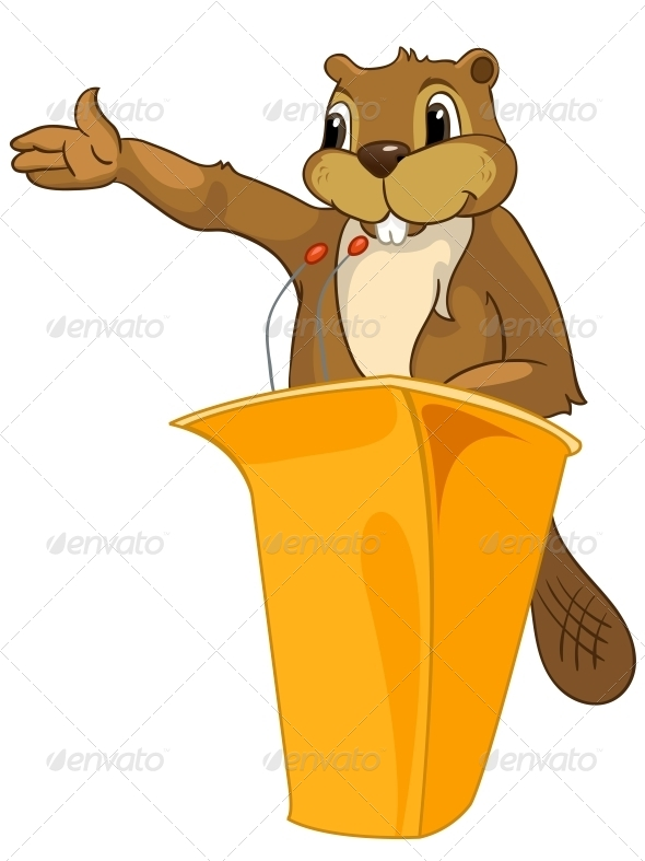 GraphicRiver Cartoon Character Beaver 4356920