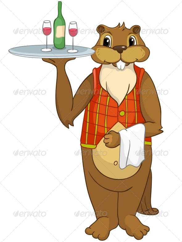 GraphicRiver Cartoon Character Beaver 4356922
