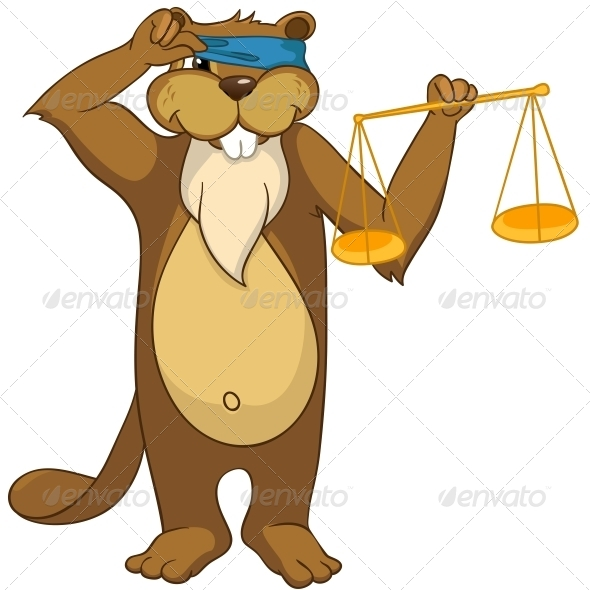 GraphicRiver Cartoon Character Beaver 4356924