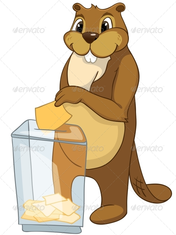 GraphicRiver Cartoon Character Beaver 4356931