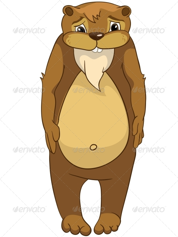 GraphicRiver Cartoon Character Beaver 4356935
