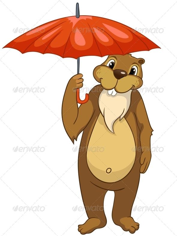 GraphicRiver Cartoon Character Beaver 4356937