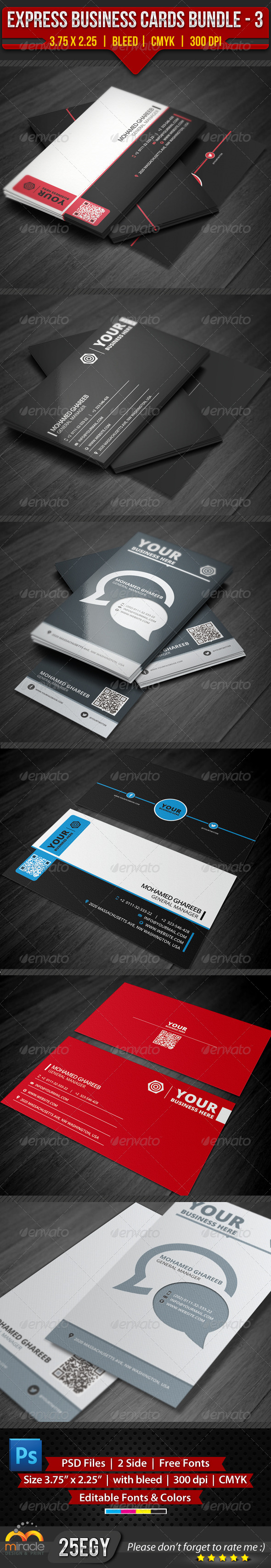GraphicRiver Express Business Cards Bundle #3 4357040