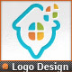 Pixel Windows Map Pointer Home Locator Logo - GraphicRiver Item for Sale