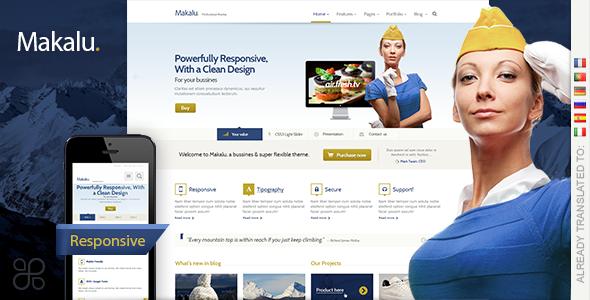 ThemeForest Makalu Business and Portfolio WP Theme 4357072