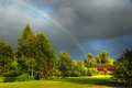 Real rainbow against a stormy sky - PhotoDune Item for Sale