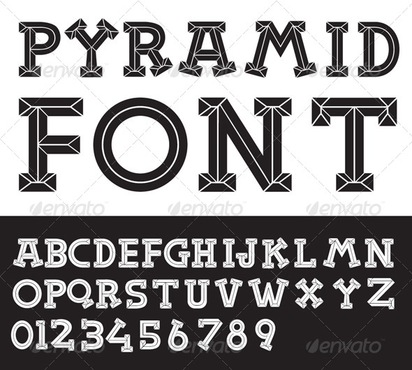GraphicRiver Pyramid Vector Font 4357197