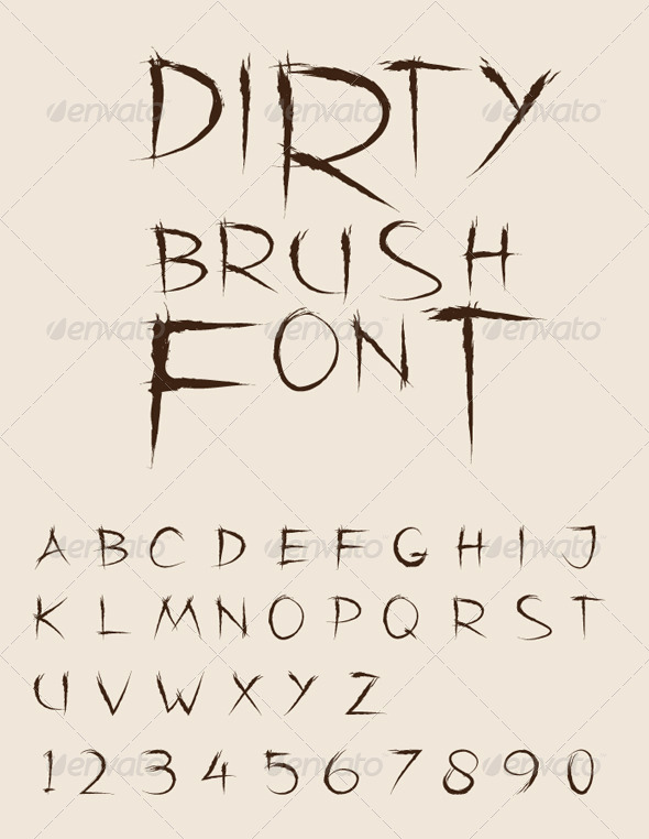 GraphicRiver Dirty Brush Vector Font 4357211
