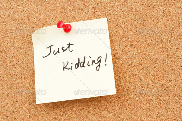 Just kidding - Stock Photo - Images