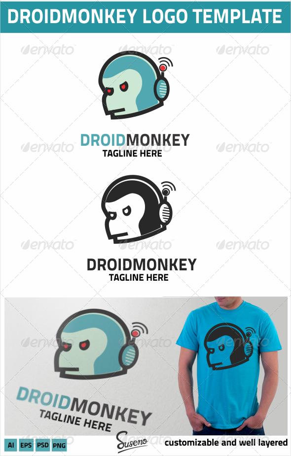 GraphicRiver DroidMonkey Logo 4272111