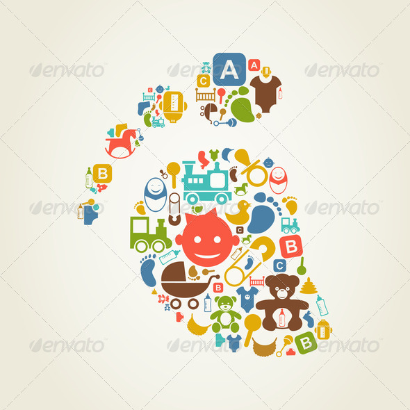Kid a trace - Stock Photo - Images