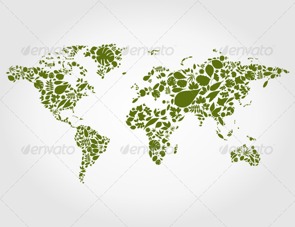 Leaf map - Stock Photo - Images