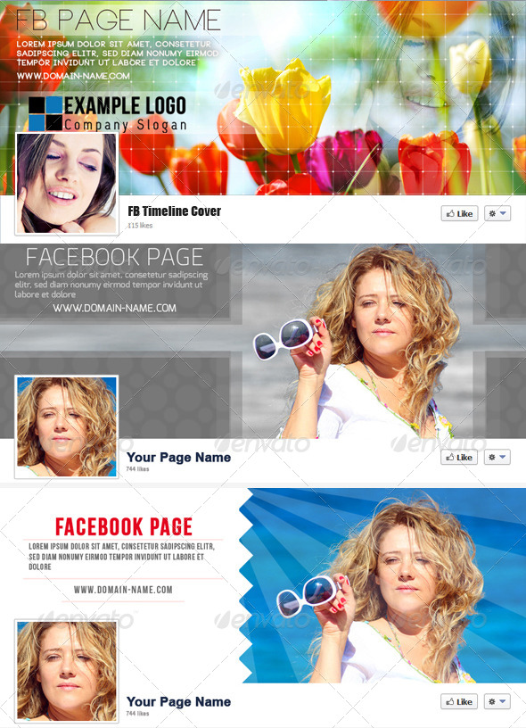 GraphicRiver Facebook Timeline Cover Bundle 4359185