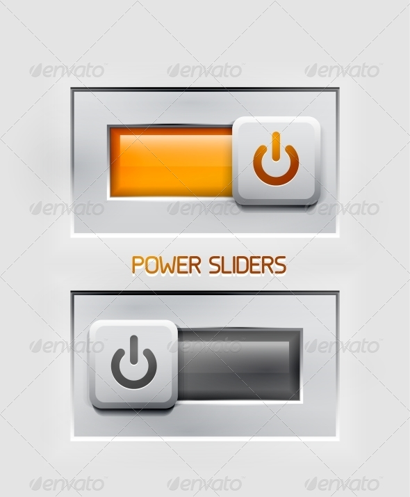GraphicRiver Vector Power Sliders Modern Icons 4359190