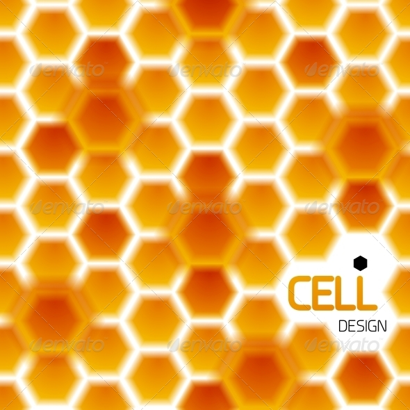 GraphicRiver Abstract Geometrical Honey Cells Modern Template 4359217