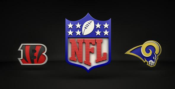 3DOcean NFL logos pack 4340555