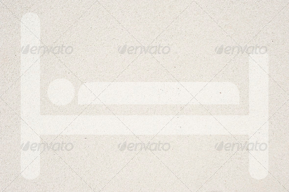 Bed on sand background and textured - Stock Photo - Images