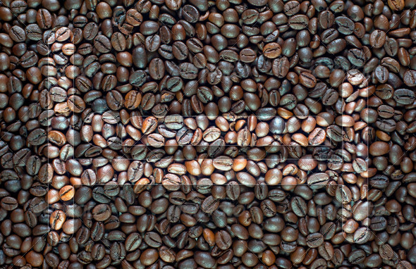 Bed on coffee background and textured - Stock Photo - Images