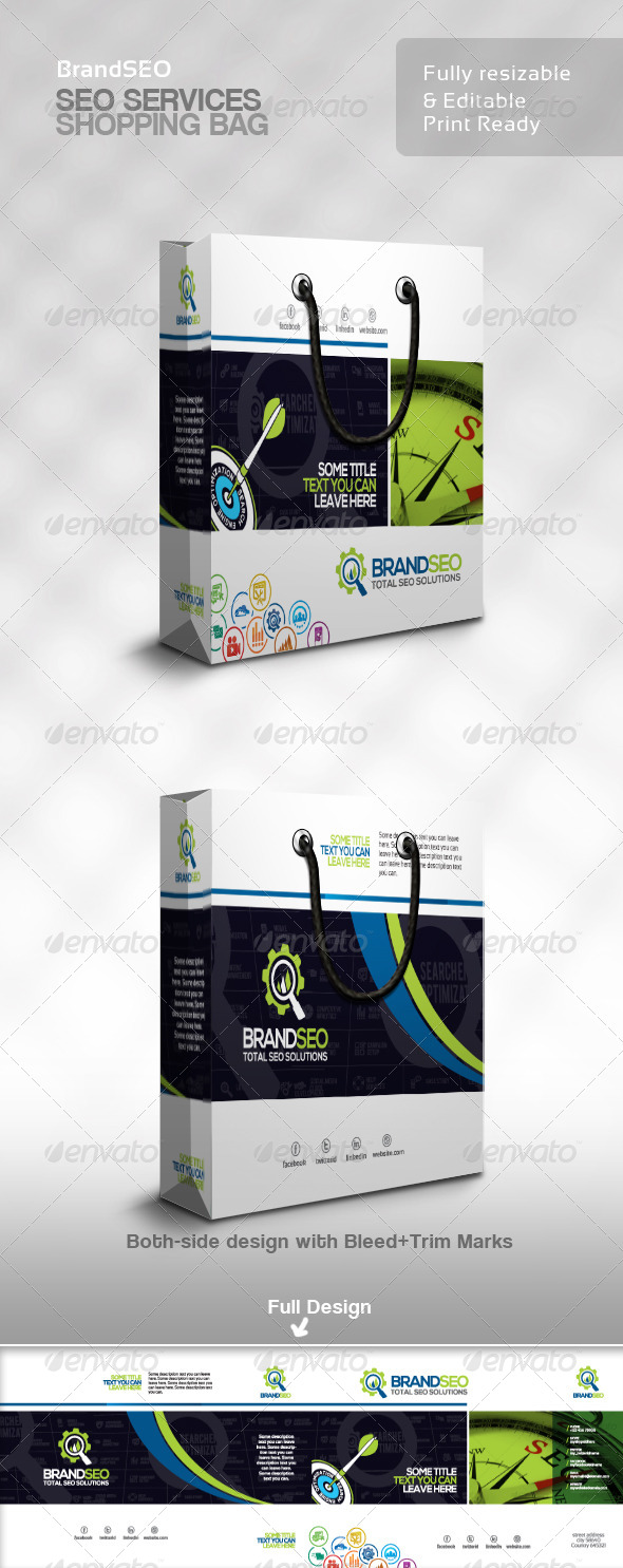 GraphicRiver BrandSEO Creative SEO Service Shopping Bag 4359493