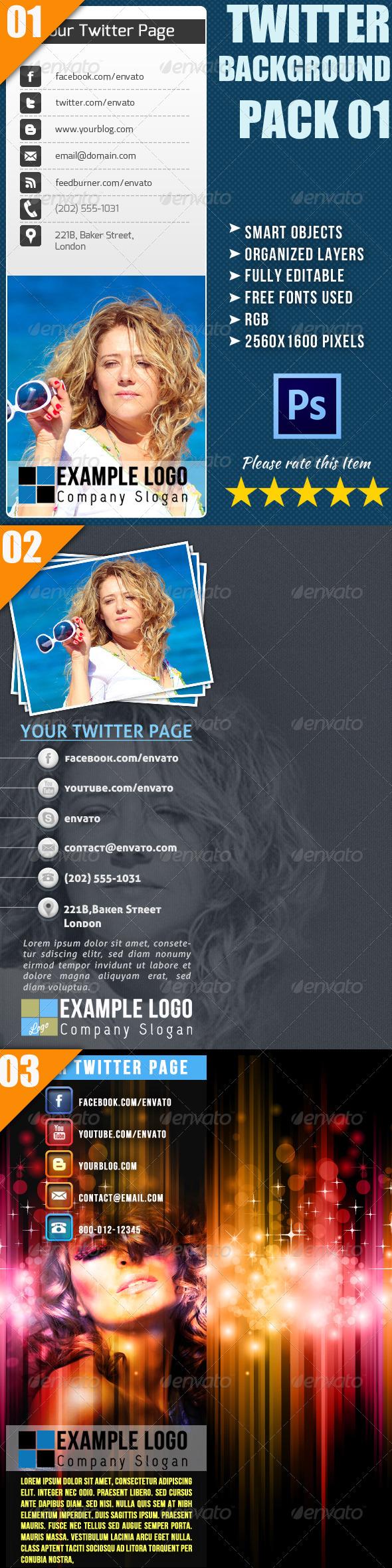 Twitter Background Bundle - Twitter Social Media