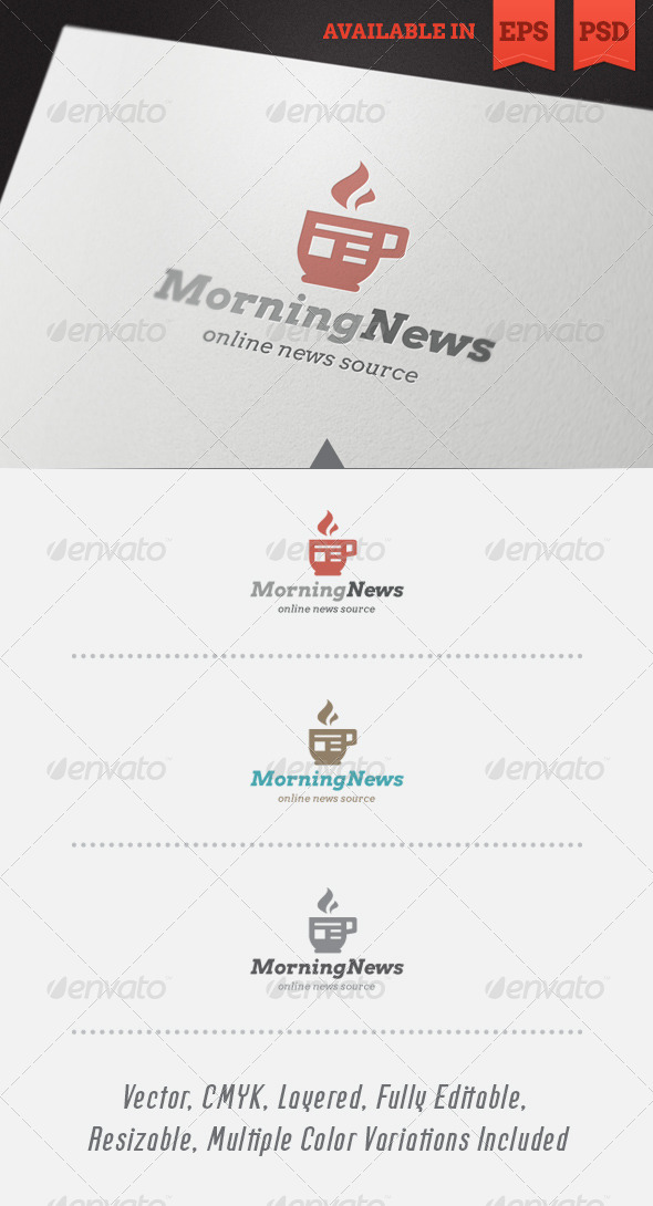 GraphicRiver Morning News Logo Template 4270239