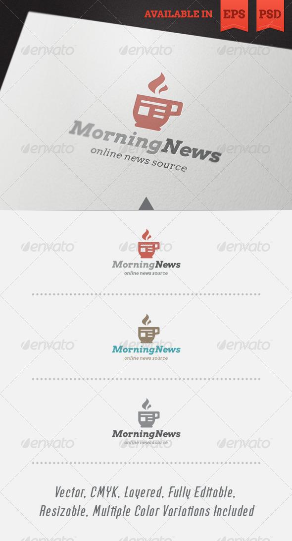 Morning News Logo Template