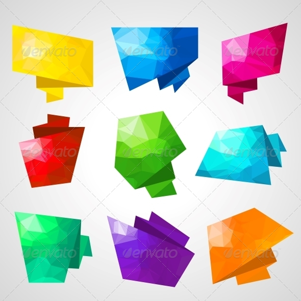GraphicRiver Multicolored Speech Bubbles 4360205