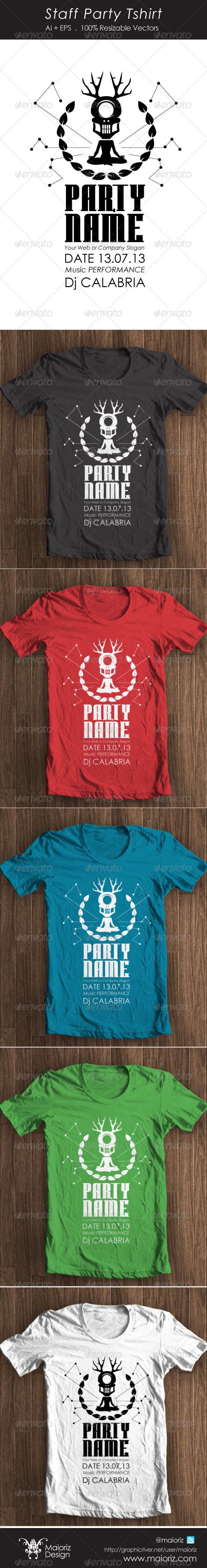 GraphicRiver Staff Party Tshirt 4360255
