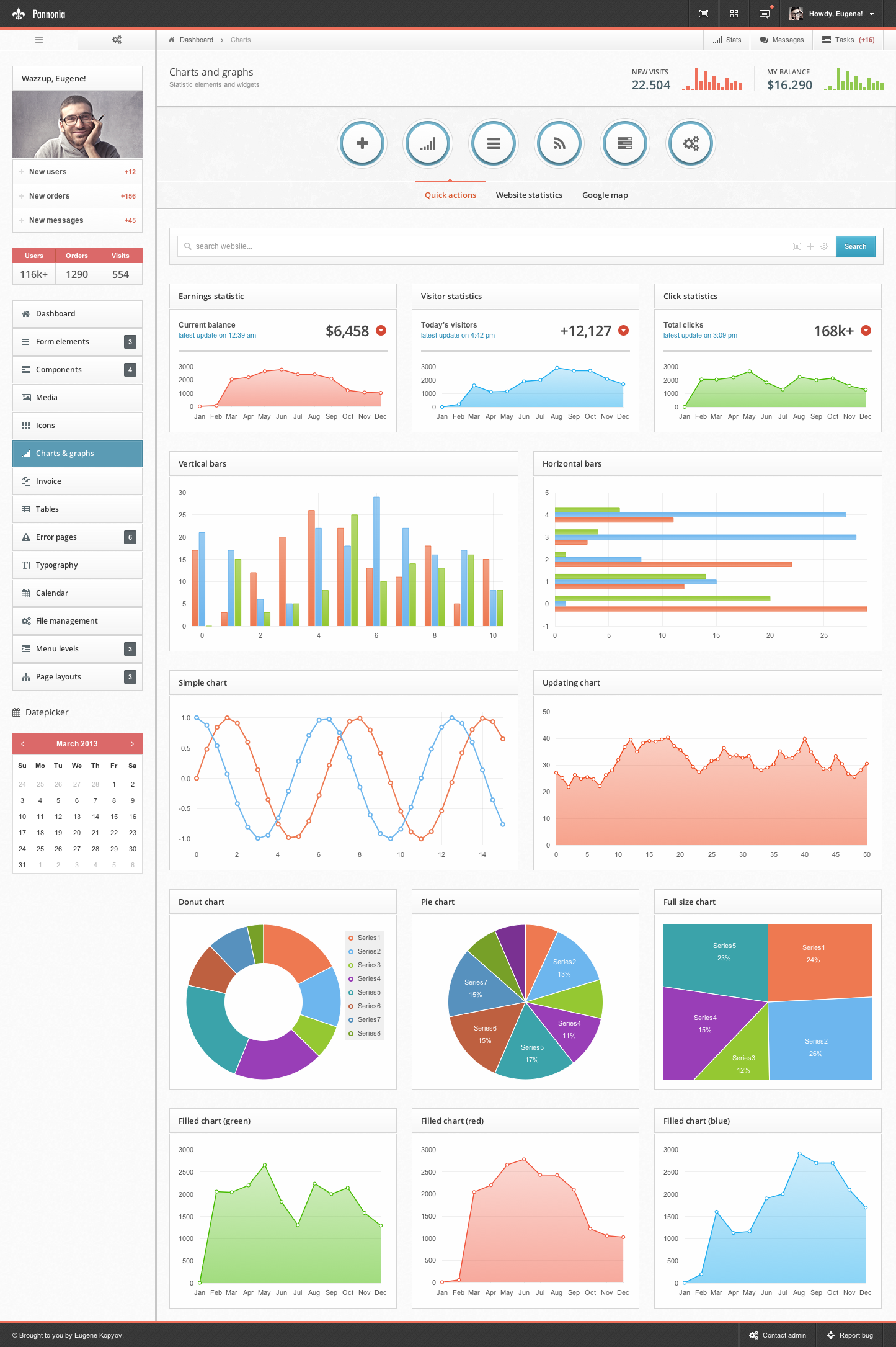 Charts Crown Admin Template Free Download