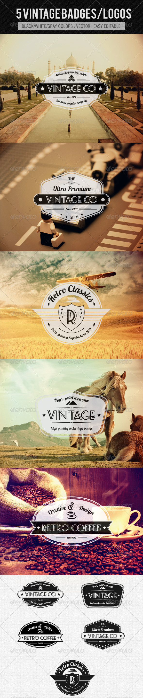 GraphicRiver Vintage Logos Badges 4360451