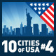 Vector City Skyline Set. USA #4 - GraphicRiver Item for Sale