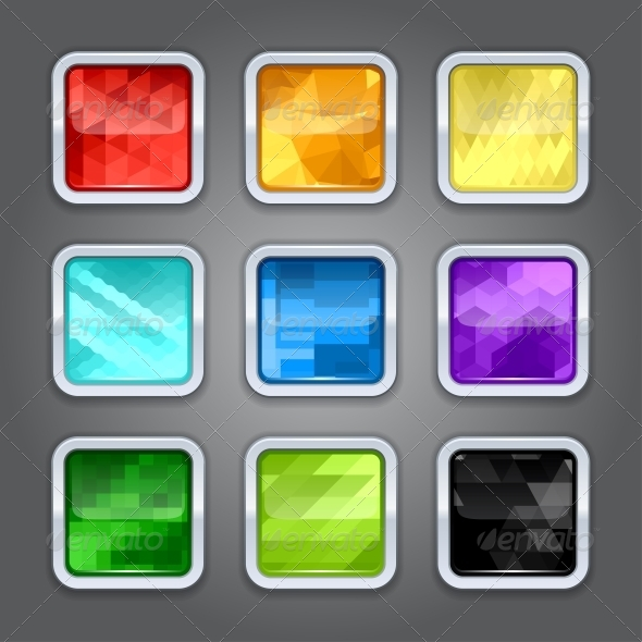 GraphicRiver Set of Backgrounds for the App Icons 4360639