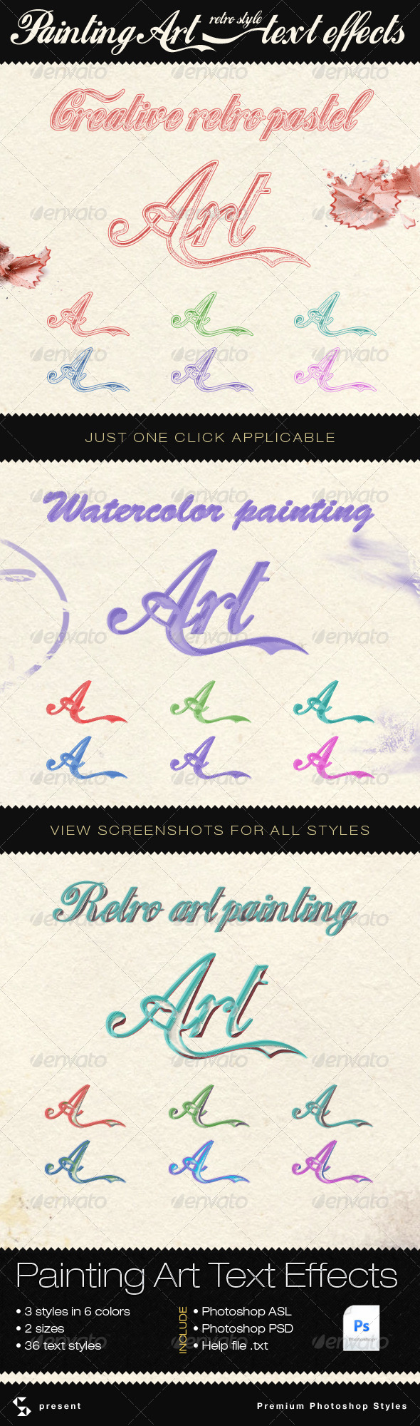GraphicRiver Painting and Retro Art Text Effects 4360800