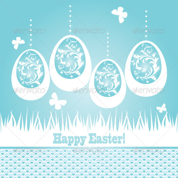 GraphicRiver Easter card 4360844