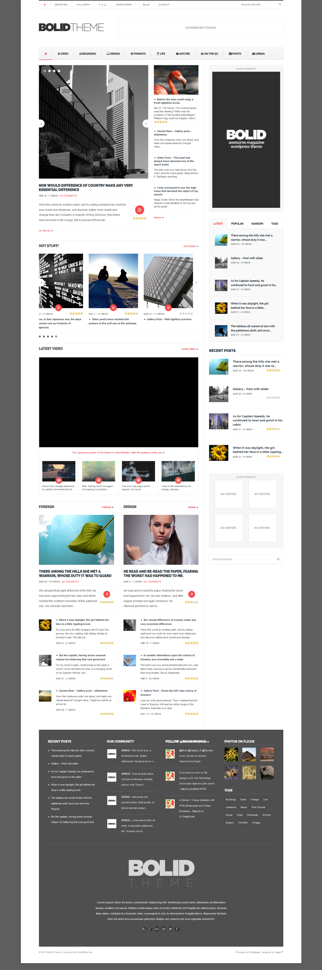 Bolid - Responsive News, Magazine and Blog Theme