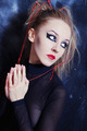 young woman with bright gothic makeup - PhotoDune Item for Sale
