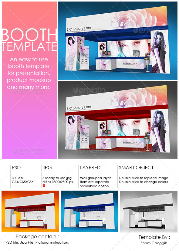 Booth Mockup Template | Scworkspace