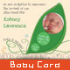 Boy/Girl Baby Announcement Card 04 -  Sweet Pea - GraphicRiver Item for Sale