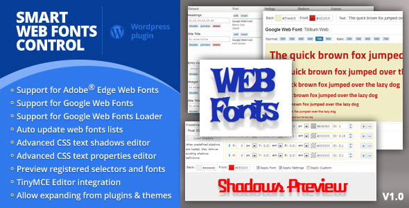 CodeCanyon Smart Web Fonts Control 4361646