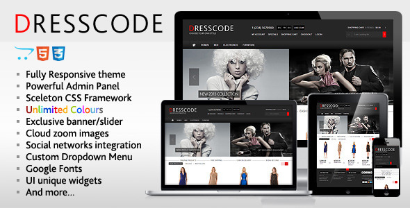 Dresscode - Responsive  OpenCart Theme - Fashion OpenCart