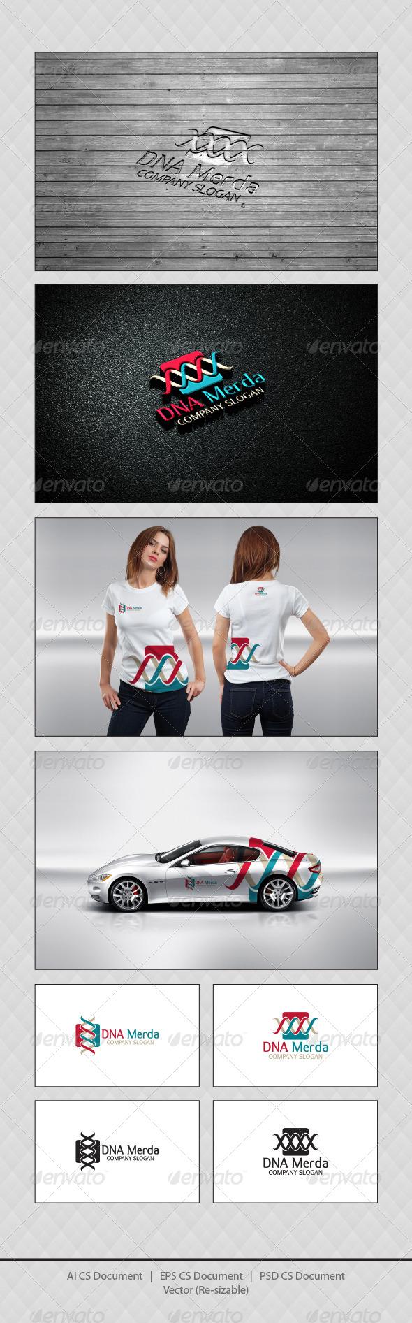 GraphicRiver DNA Merda Logo Templates 4361704