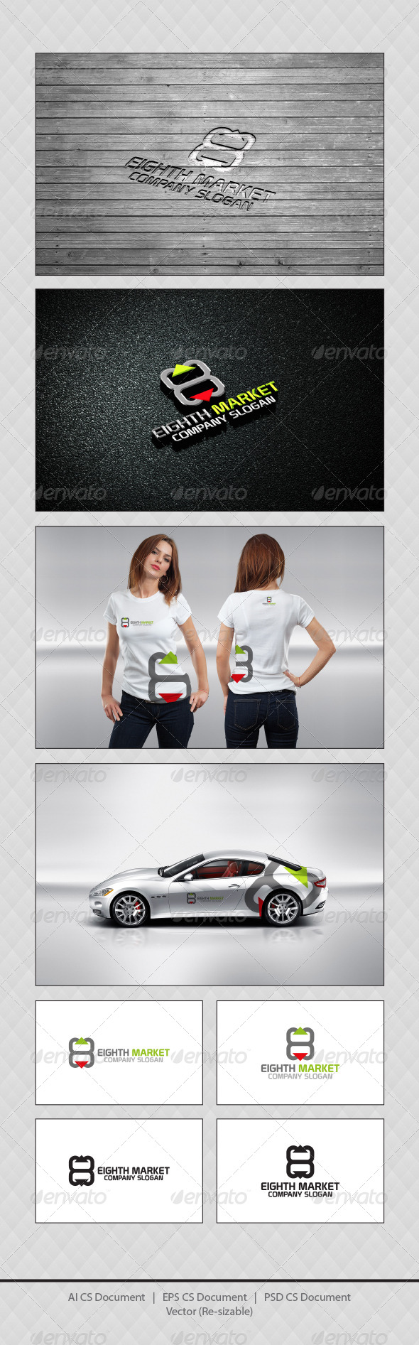 GraphicRiver Eighth Market Logo Templates 4261755
