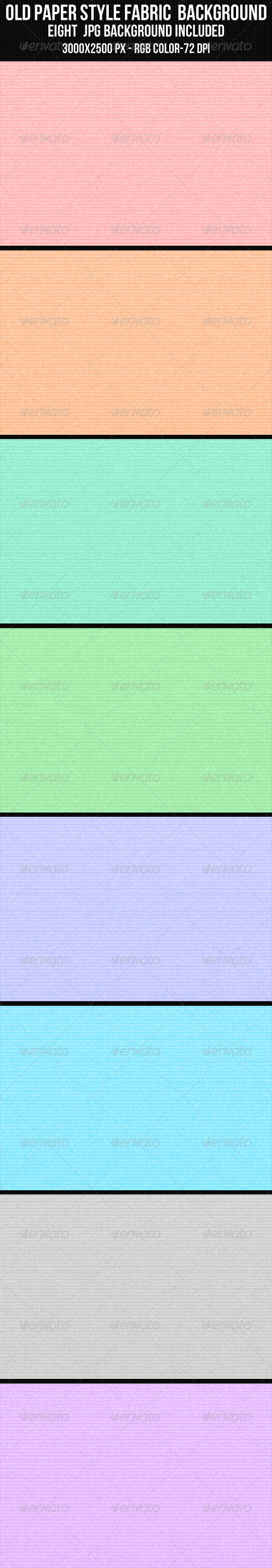 GraphicRiver Old Paper Style Fabric Background Set 4362214